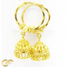 22ct Gold Jhumki Hoops.