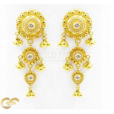 22ct Gold Dangle Earrings.