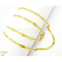 22Ct Gold Unisex Ripple Link Chain