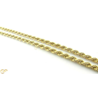 9Ct Gold Hollow Thick Rope Unisex Chain