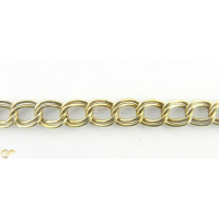 9Ct Gold Double Curb Hollow Link Chain Unisex