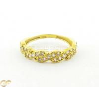22Ct Ladies Ring With Cz Stones