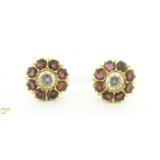 22Ct Gold Stud Earrings With Stones