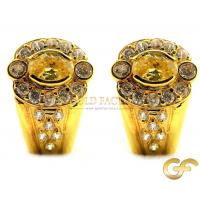 Omega back 18ct Yellow Gold earrings