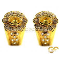 Omega back 18ct Yellow Gold earrings