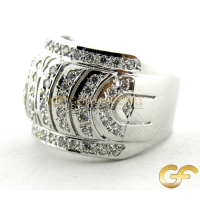 Pave Ring 18ct Gold