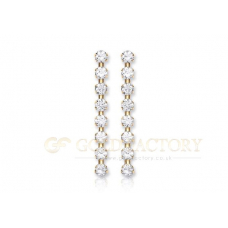 9ct Drop CZ Earrings
