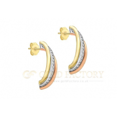 Three Colour CZ Earrings